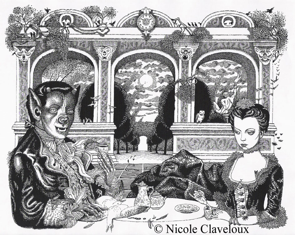 Belle et la Bête illustrated by Nicole Claveloux