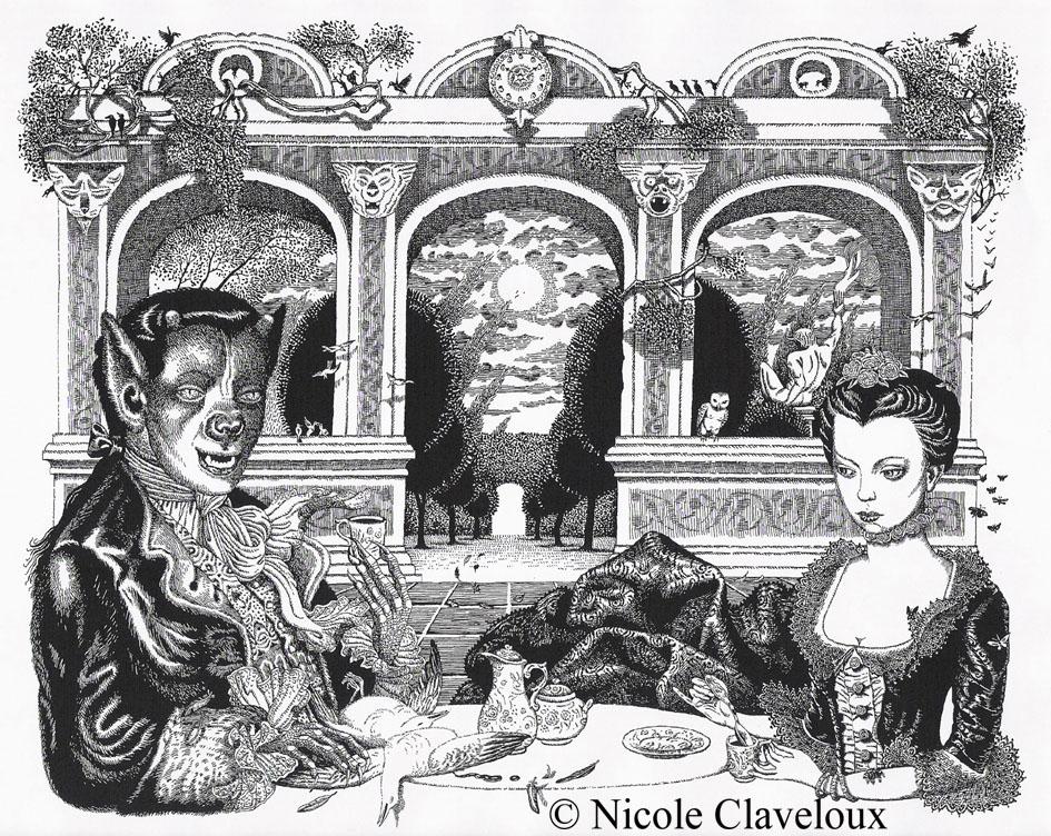 Belle et la Bêteillustrated by Nicole Claveloux