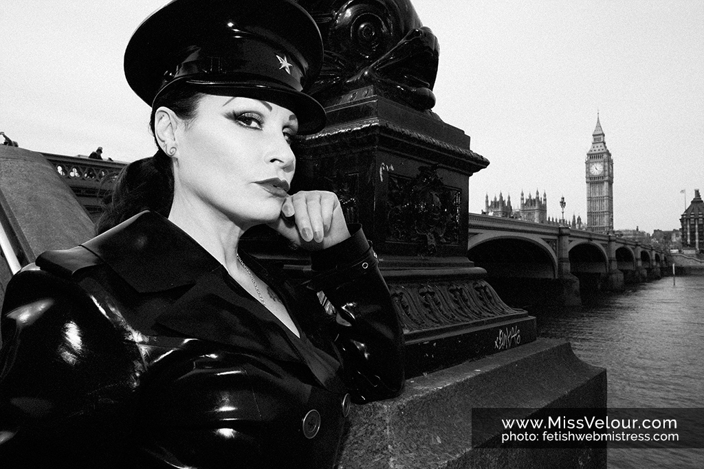 Miss Velour and our Heavy Rubber photoshoot on Westminster Bridge in London