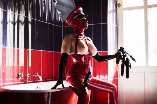 Miss Velour London rubber Mistress