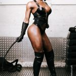 dominatrix photography of fit mistress Kiana