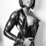 London latex photoshoot with female photographer