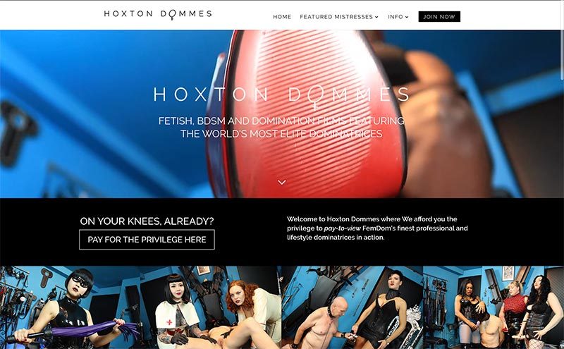 hoxton dommes members website for femdom clips