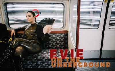 A latex photoshoot in London with Mistress Evilyne